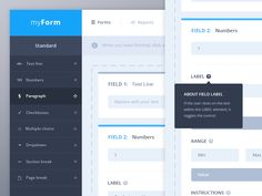 Hello everybody,  these shots are an other part of the « myForm » project I designed a couple of days ago. This view shows the form builder when a user has added some fields and want to edit them. ...