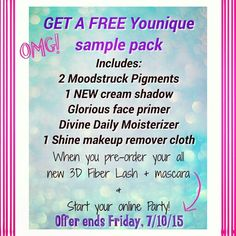 Hurry!!  Don't miss this amazing opportunity! Facebook: Eartha Baca #samples #makeup