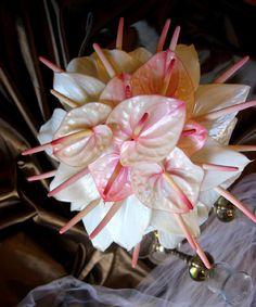 pink Anthurium bouquet