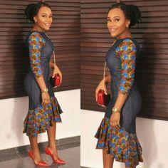 Top Ten Beautiful Ankara Styles Gown For Ladies - Dabonke : Nigeria Latest Gist and Fashion 2019 African Dresses For Women, African Print Dresses, African Print Fashion, Africa Fashion, African Attire, African Fashion Dresses, African Wear, African Women, Ghanaian Fashion