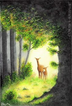 Watercolor Illustration. Slippery When Wet, Flora And Fauna, Watercolor Illustration, Digital Art, Painting, Painting Art, Paintings, Painted Canvas, Drawings