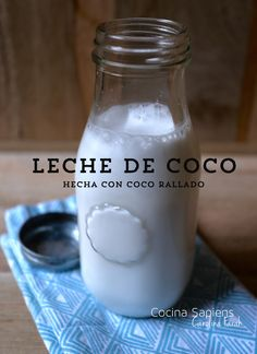 Leche de coco casera y económica – Food for Healty Juice Smoothie, Smoothie Drinks, Smoothie Recipes, Smoothies, Healthy Eating Tips, Healthy Nutrition, Healthy Cooking, Healthy Food, Drink Menu