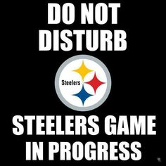 Do not disturb - Pittsburgh Steelers. Need this so much, for the annoying Pats fan I live with.