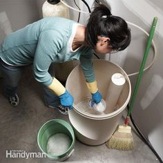 You can often fix water softeners by checking the brine tank for salt problems or simply cleaning the resin bed or several other key parts. All are easy to do and you might avoid the expensive service call. Learn how to fix a water softener. Plumbing Problems, Diy Home Repair, Water Well, Home Repairs, Water Systems, Water Supply, Diy Cleaning Products, Cleaning Tips, Salt