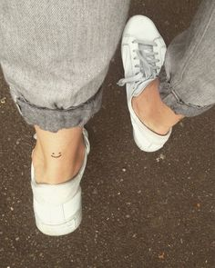 coolTop Tiny Tattoo Idea - Minimalist Tattoo Smile Minimal Tattoo                                          ...