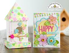Hi Doodlebug Fans, it's Brigit here!  I have a couple of projects to share with you using some of the Spring Things cut files and Paper Coll...