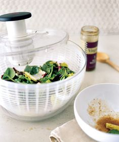 Salad Spinner as Dressing Distributor