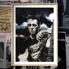 """Joe"" - Canvas / Poster Print - PUNX.UK http://punx.uk/product/joe-canvas-poster-print/"