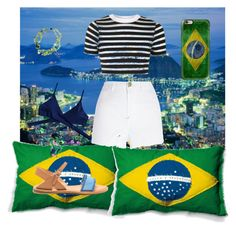 """Brazil!"" by adrielisanes on Polyvore featuring Seletti, Topshop, Casetify and River Island"