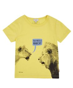 Paul Smith Junior Ages 3 to 6 Yellow Lion Print Cotton T-Shirt | Kids | Liberty.co.uk