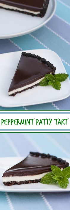 This simple-to-prepare peppermint patty tart -- with its creamy minty, filling and a thick layer of chocolate ganache -- will take your breath away.  A perfect recipe for mint lovers!
