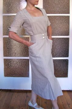View details for the project The 1935 Linen Dress on BurdaStyle.