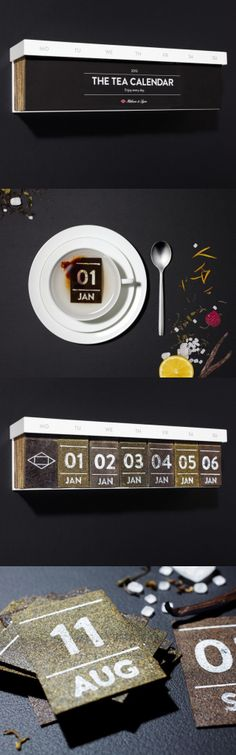 The Tea Calendar. It took me a while but I just realized the days are tea bags : ) PD