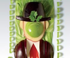 Famous Paintings Made From Veggies and Fruit