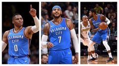 Who looks better: Lebron James & the Cavs or Carmelo & OKC? - https://www.trillmatic.com/who-looks-better-lebron-james-the-cavs-or-carmello-okc/ - Which NBA big three looks better: Lebron James, Dwyane Wade and Derrick Rose or Russell Westbrook, Carmelo Anthony & Paul George?  #NBA #Basketball #OKC #Cleveland #Cavaliers #Thunder #Preseason #Trillmatic