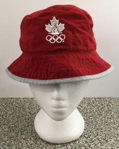 Olympics Sydney 2000 Roots Canada Parade Bucket Hat Cap Red Size Small New Tag #Roots #BucketHat #Canada