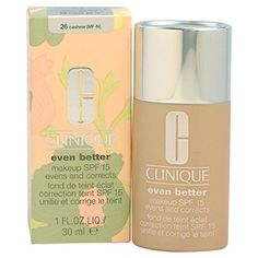 Clinique Even Better Makeup Spf 15 Dry to Combination Oily Skin, Cashew, 1 Ounce * This is an Amazon Affiliate link. For more information, visit image link.