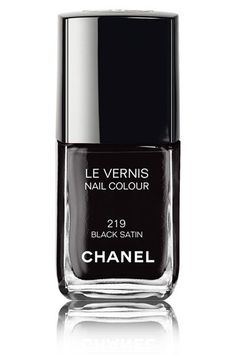 Chanel Black Satin Nail Polish #nails