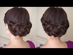 Spring Braided Flower Hair Tutorial - YouTube