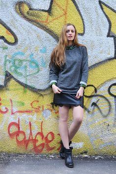 graffiti art fashion, graffiti street style, layering fashion trend