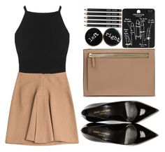 """""""I may be falling for you #5"""" by wonderland-love ❤ liked on Polyvore featuring Derek Lam, Yves Saint Laurent, Topshop and Bobbi Brown Cosmetics"""