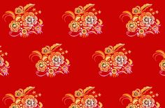 Chinese pattern: Happy Year of the Rabbit! Ballpoint pen, Photoshop. C: Anne Perämäki by Anne Perämäki, via Flickr
