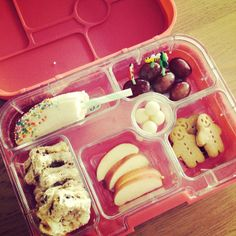 @lea_b21 My first attempt at using this awesome #yumbox I got for Isla, so cute!! #bento #kidslunch #yummy #islaruby   Yumbox is now available to buy in the UK via www.yumbox-uk.co.uk