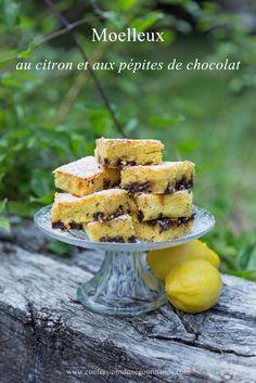 Moelleux au citron et aux pépites de chocolat site