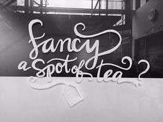 Fancy A Spot of Tea | Fonts Inspirations | The Design Inspiration