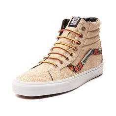 Shop for Vans x Zio Ziegler Sk8 Hi Skate Shoe in Tan Tribal at Journeys Shoes. Shop today for the hottest brands in mens shoes and womens shoes at Journeys.com.Vans teams up with San Francisco artist Zio Ziegler to bring you this special edition tribal print Sk8 Hi. Known for his highly detailed outdoor murals, Ziegler channels classic graffiti art and skate culture on this Vans Sk8 Hi with ornate tribal details and multicolored highlights. Features include a synthetic upper, padded collar…