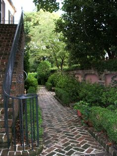 I love secret gardens and paths in Charleston S.C.  http://marieardenpinkliving.blogspot.com/