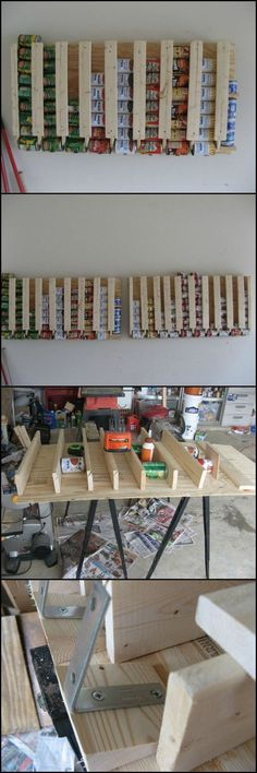 Looking for canned food storage system for your pantry, then this DIY canned food dispenser is for you. First in, first out, is the concept behind this rotating canned food storage system.  It's completely DIY, and you can make your own too by viewing the full album of the project at http://theownerbuildernetwork.co/kjlc  Could you use one of these in your home?