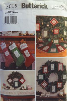 Butterick 3615 Christmas Decorating with Stitchery
