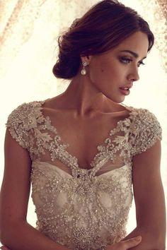 Best Wedding Dress Collection: lanvin bridal spring 2013 wedding dress floral sleeve
