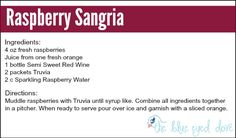 Raspberry Sangria - The Blue Eyed Dove