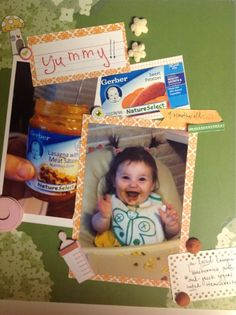 Second page of scrap booking ever