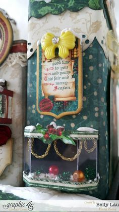 Christmas Village Mini Album Set - Graphic 45 - Christmas Carol - Belly - 6  http://g45papers.typepad.com/graphic45/2015/11/brilliant-villages-with-a-christmas-carol-.html