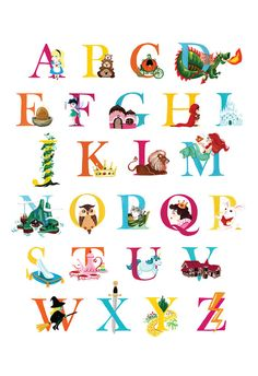 Storybook Alphabet Print by shopannshen on Etsy