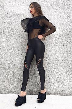 Limited edition cross corset μαύρο κολάν