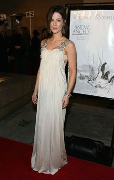 Kate Beckinsale at the afterparty for the premiere of Warner Independent Pictures' 'Snow Angels' at the Egyptian Theater on February 28, 2008 in Los Angeles, California.