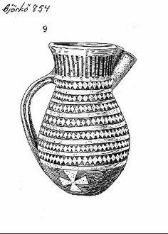 Tattinger ware pitcher from Birka. Visa bild | Sök i samlingarna | Historiska museet