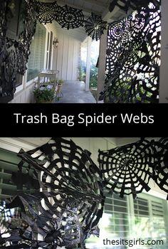 http://www.thesitsgirls.com/diy/trash-bag-spider-webs/