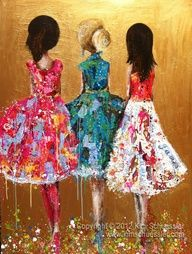 ~❥mm painting by kim schuessler Dance Paintings, Painting Art, Mother Art, Fashion Design Sketches, Whimsical Art, Art Pictures, Art Pics, Beautiful Artwork, Indian Art