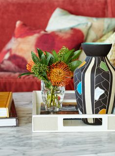 Photo Donna Griffith > Style at Home, Oct 2017 Small Space Living, Small Spaces, Oct 2017, New Condo, Vintage Vases, Design Consultant, Design Firms, Room Colors, Custom Design
