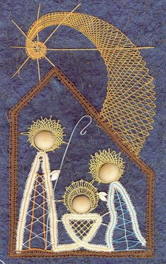 bobbin lace making patterns for beginners String Art Templates, Bobbin Lace Patterns, Swedish Weaving, Nativity Crafts, Lacemaking, Weaving Textiles, Point Lace, Tatting Lace, Christmas Embroidery