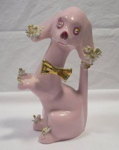 Pink Spaghetti Poodle Figurine - Google Search