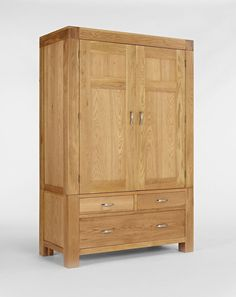 Shop for wardrobes from Ametis' Santana collection at Space and Shape. Durable and eco-friendly furniture. FREE UK delivery over Solid Oak Wardrobe, Buy Wardrobe, Double Wardrobe, Wardrobe Drawers, 2 Door Wardrobe, Selling Furniture, Online Furniture, Bed In Living Room, Bed Room