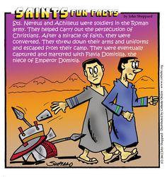 Nereus and achilleus Catholic Online, Catholic Kids, Catholic Saints, Roman Catholic, Religious Humor, Catholic Quotes, Religious Education, Saints For Kids, Word Of Faith