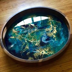 Made-to-order x Abstract Painting - Resin Art - Resin Painting - Abstract Art - Modern Art - Wall Art - Turquoise - Gold - Auf Bestellung 8 x 8 abstrakte Malerei Epoxy Resin Art, Diy Resin Art, Diy Resin Crafts, Stick Crafts, Art Crafts, Art Turquoise, Coaster Art, Joss Stone, Art Diy
