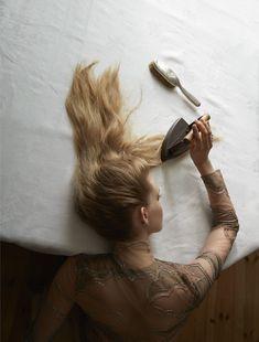 EDITORIAL+BEAUTY: Ella Wennstrom in Vogue Italia November 2016 by Camilla Akrans — Do It Yourself — Beauty Supplement — Photography: Camilla Akrans,  Model: Ella Wennstrom,  Styling: Robert Rydberg,  Hair: Erika Svedjevik,  Make-Up: Fredrik Stambro,  Set Design: Johan Svenson.